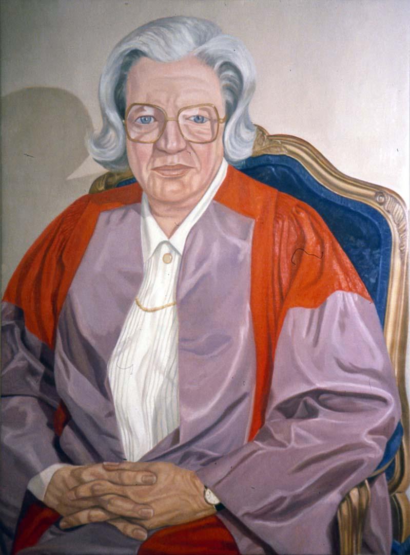 "1995 Portrait of President Hanna Grey Oil 48"" x 36"""
