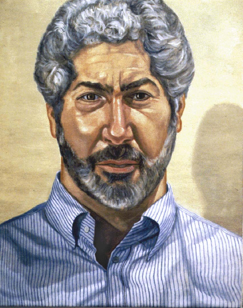 "1995 Portrait of Richard Shabaro Oil on Canvas 24"" x 30"""