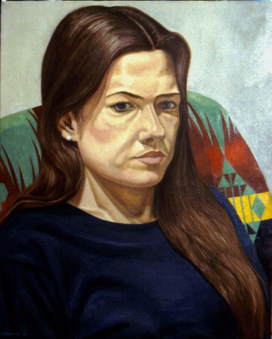 "1997 Portrait of Sara Miller Oil 30"" x 24"""