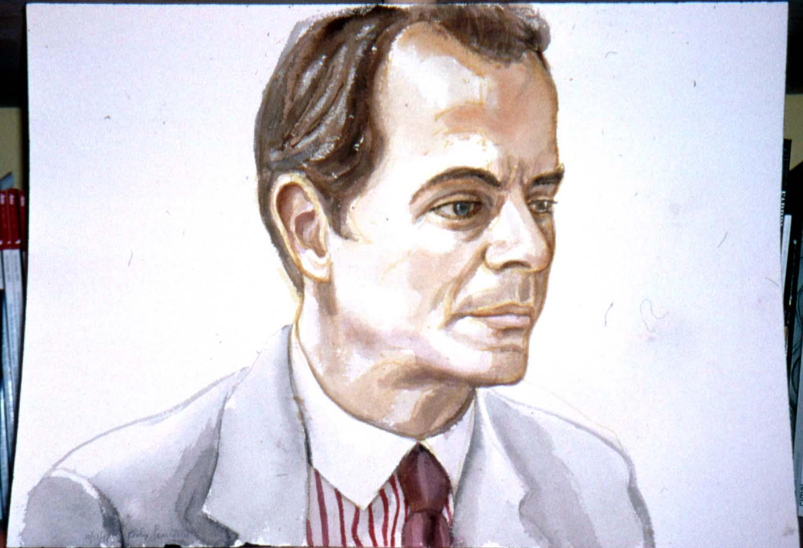 1998 Portrait of Arnold Brizzi Watercolor Dimensions Unknown