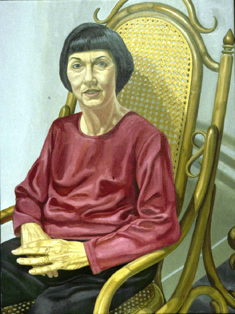 "1998 Portrait of Francis Klagshorn Oil 48"" x 36"""