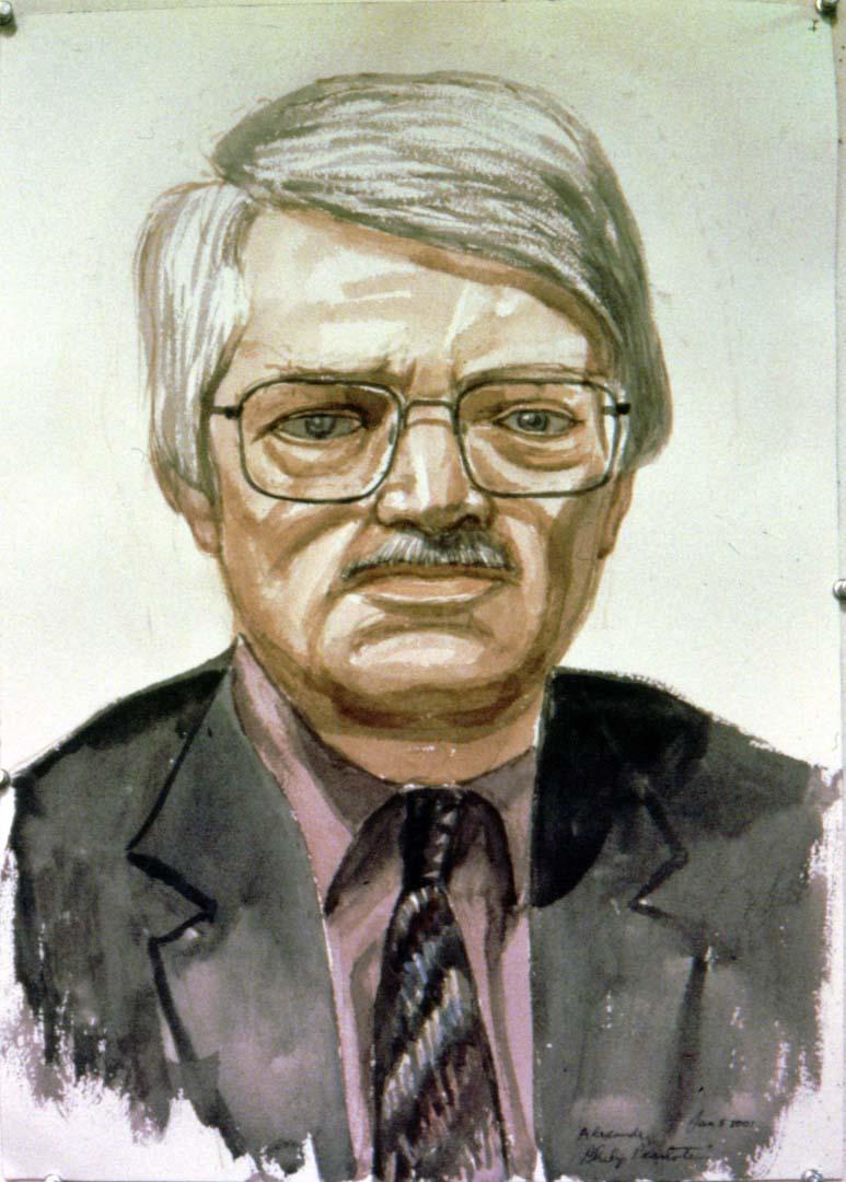 2001 Portrait of Alexander Ducker Watercolor Dimensions Unknown