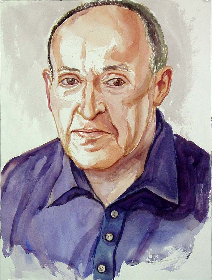 2005 Portrait of Joe Margolis Watercolor on paper Dimensions Unknown