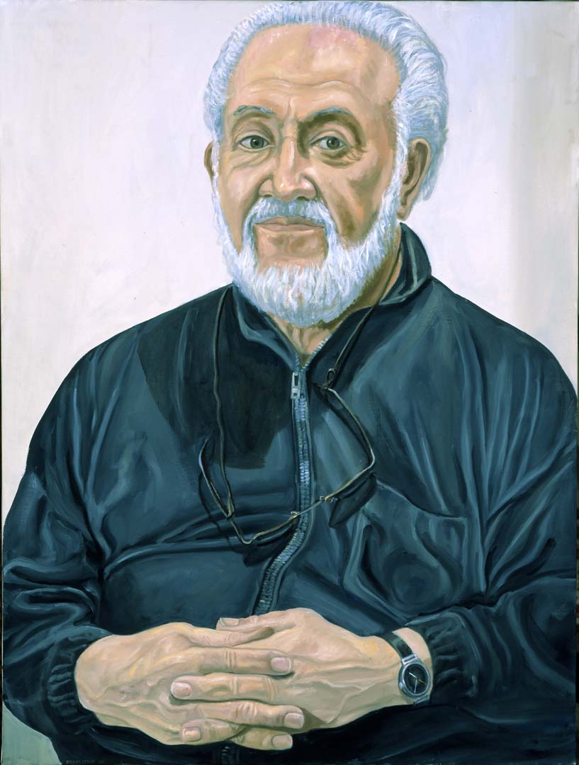 "2005 Portrait of Mitch Leigh Oil 48"" x 36"""