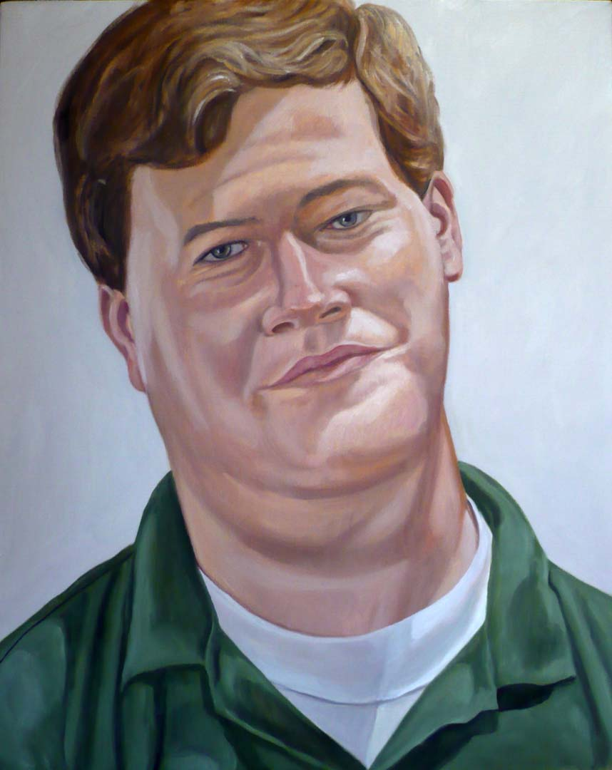 "2007 Portrait of Bayard Oil on canvas 30"" x 24"""