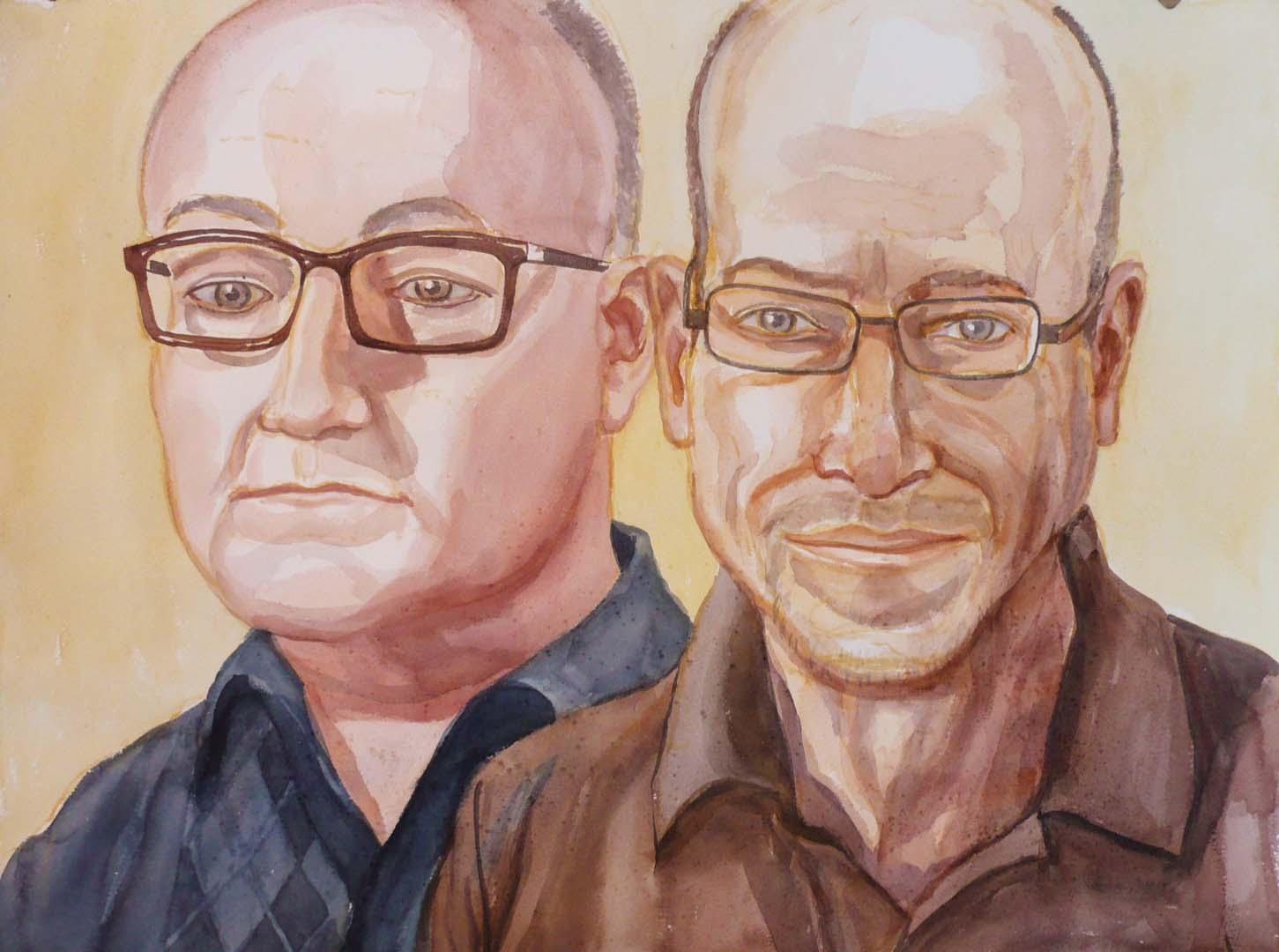 2008 Ira Helf & John Knoebel Watercolor Dimensions Unknown