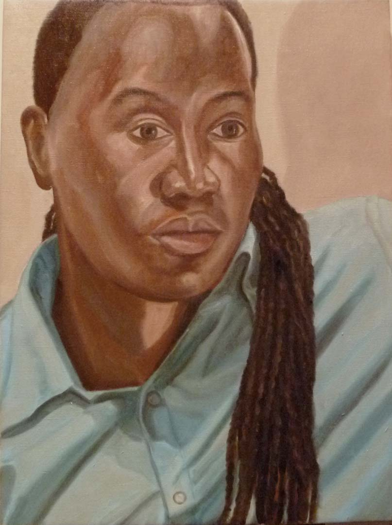 "2010 Portrait of Wayne John Oil on canvas 24"" x 18"""