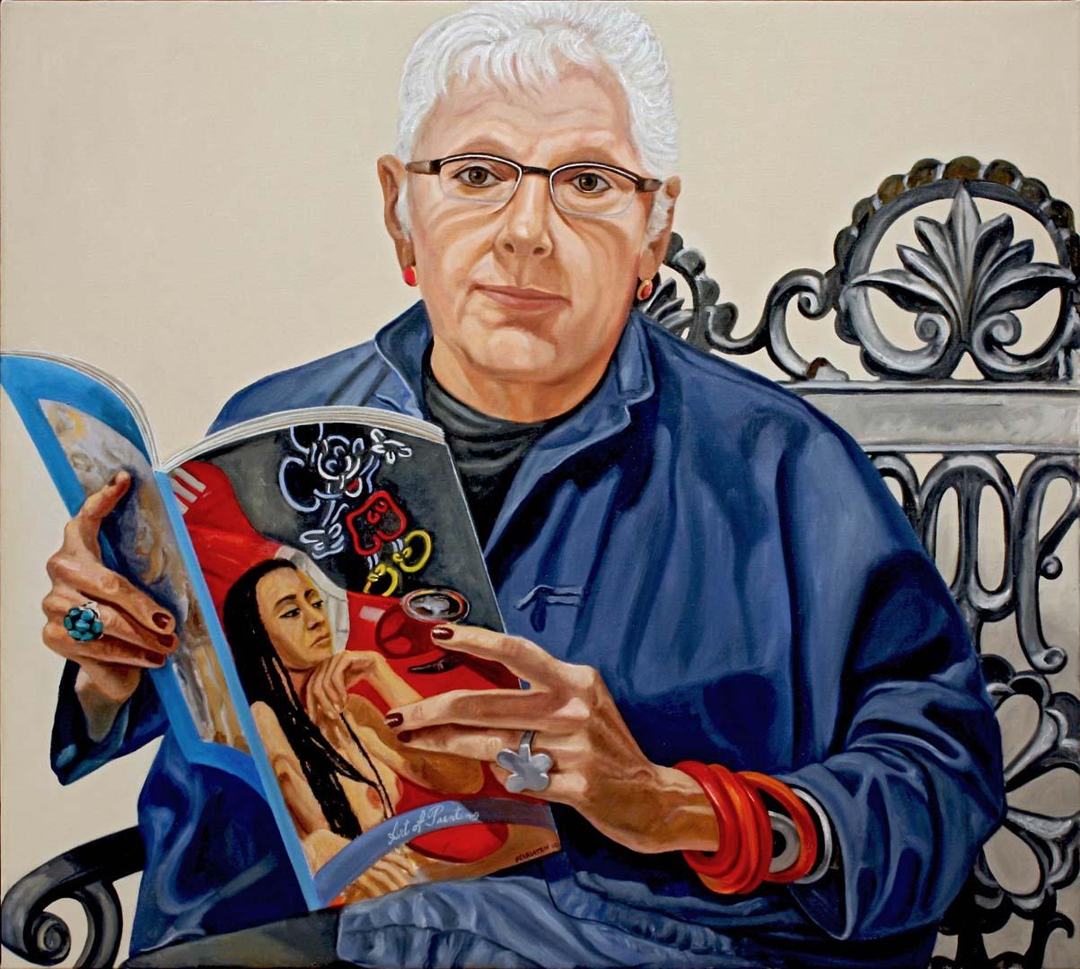 """2010 Linda Nochlin Oil 36"""" x 40"""""""