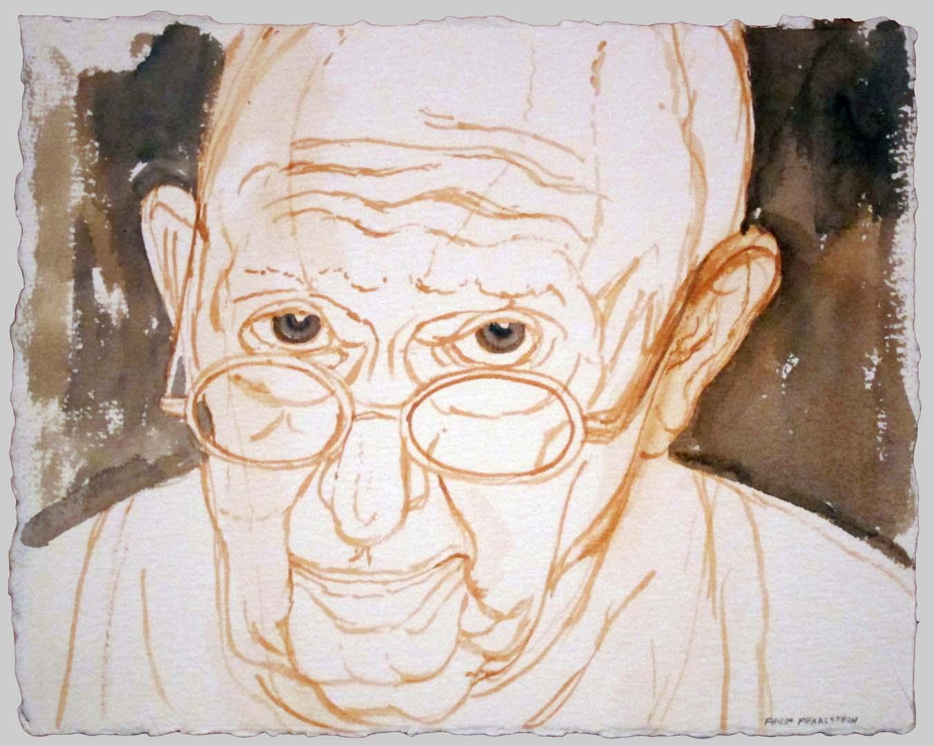 2012 Self Portrait (progress shot 1of2) Watercolor Dimensions Unknown