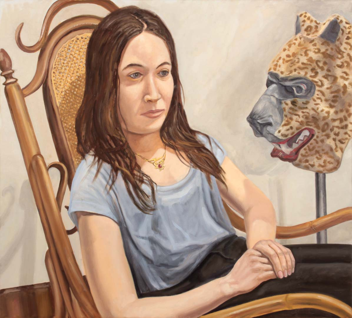 "2015 Sophie Oil on Canvas 36"" x 40"""