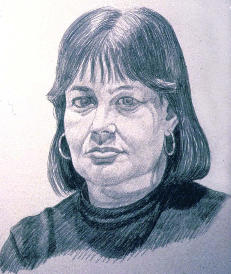 1990 Portrait of Barbara McDermott Pencil 14 x 17