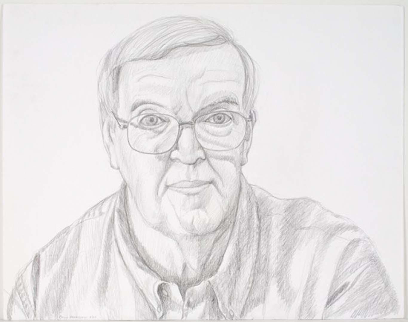 """2003 Portrait of Howard Place Pencil 18.75"""" x 23.875"""""""