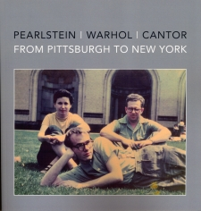 The cover for the book showing (left to right) Dorothy Cantor, Philip Pearlstein and Andy Warhol
