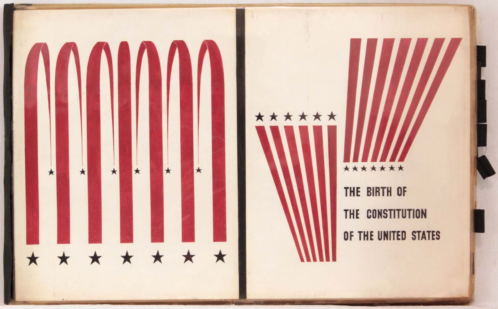"1949 Image 42 Birth of the Constitution of the United States Book Cover 11.375"" x 18"""