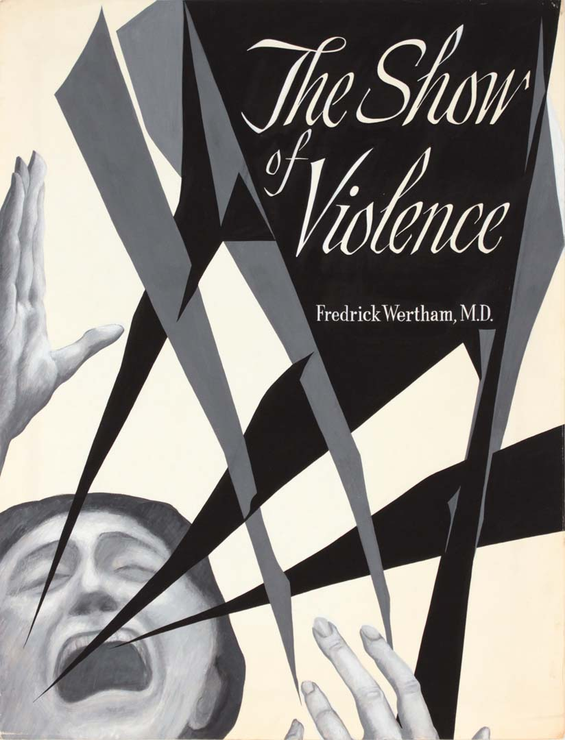 "1949 The Show of Violence (Study for Book Jacket) poster ink 21"" x 16"""