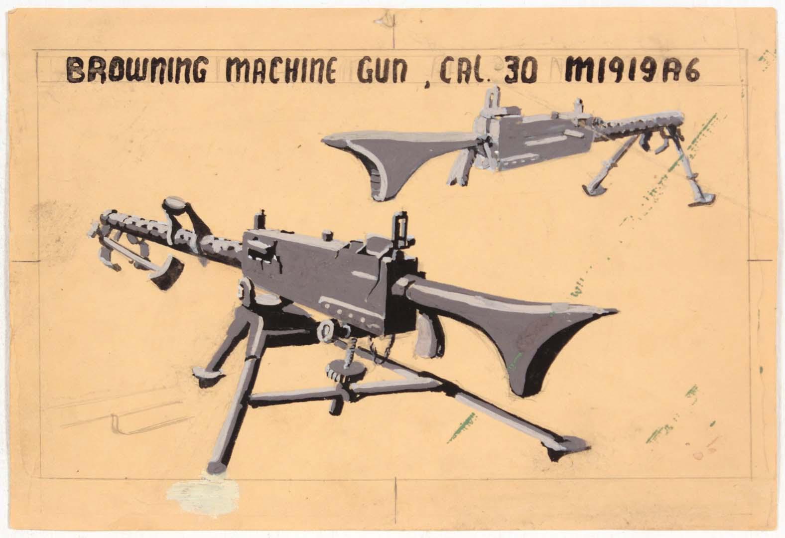 1944 Image 58 (Browning Machine Gun) Silkscreen 7.375 x 10.75