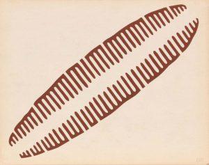 1944 Image 59 (Back Map Symbol) Silkscreen 11 x 14