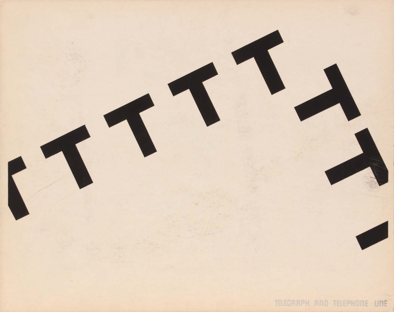 1944 Image 60 (Front Telegraph and Telephone Line) Silkscreen 11 x 14