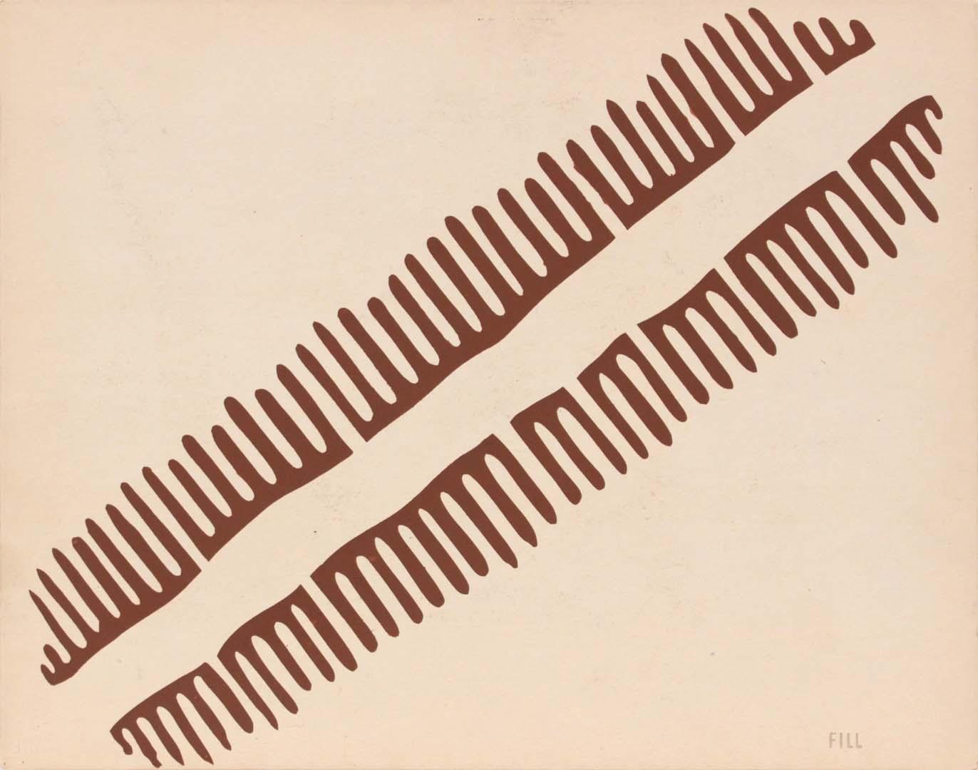 """1944 Image 64 (Front Fill) Silkscreen 11"""" x 14"""""""