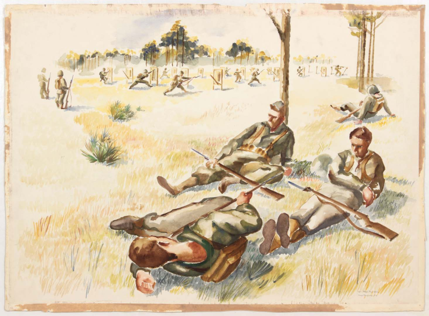 1944 Training in Camp Blanding Florida (Soldiers resting