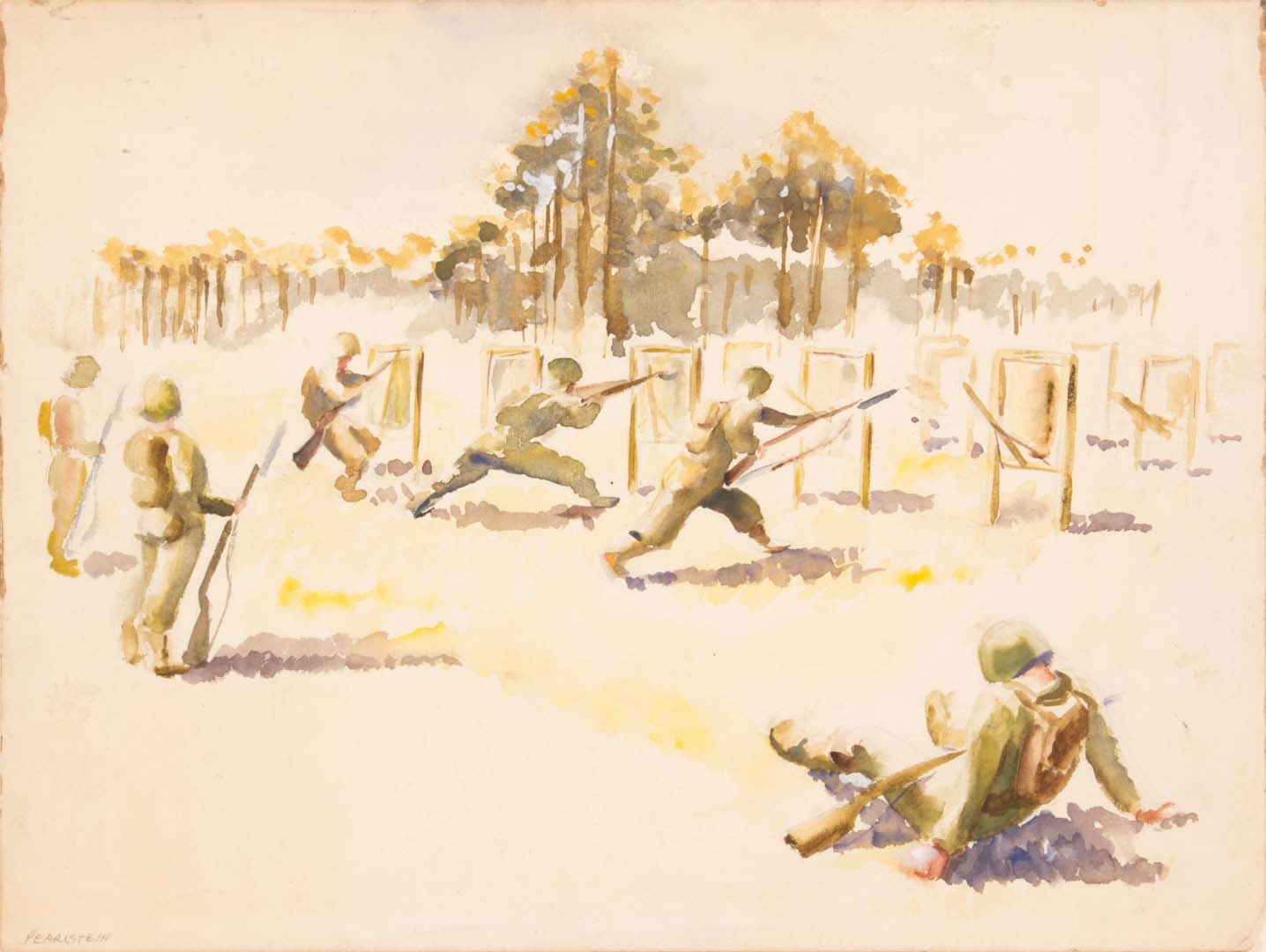 1943 Training in Florida I (1 Soldier Sitting