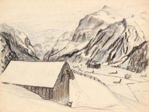 1945 Switzerland I Crayon 9 x 11.875