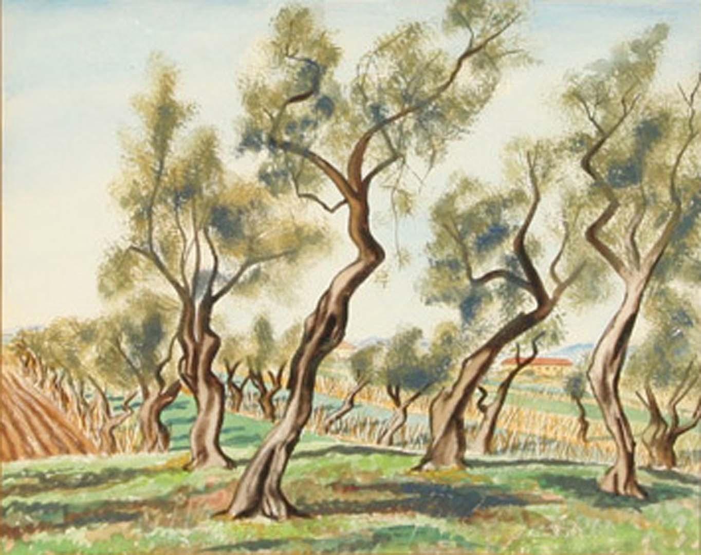 1946 Leghorn Watercolor 14 x 18