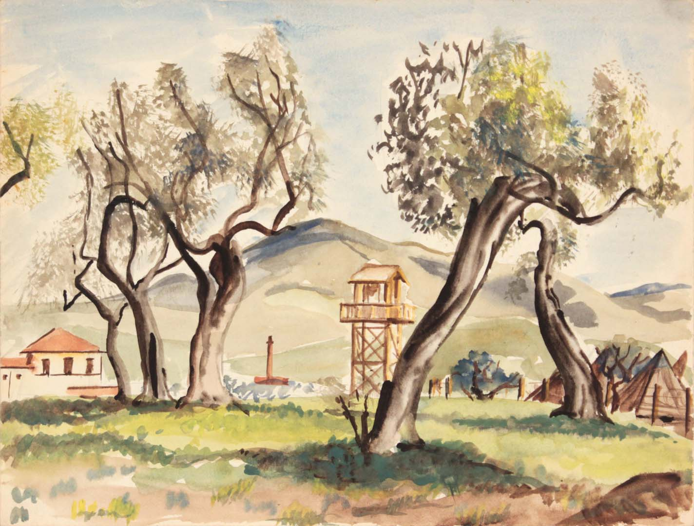 1946 Livorno I Watercolor 9 x 11.875
