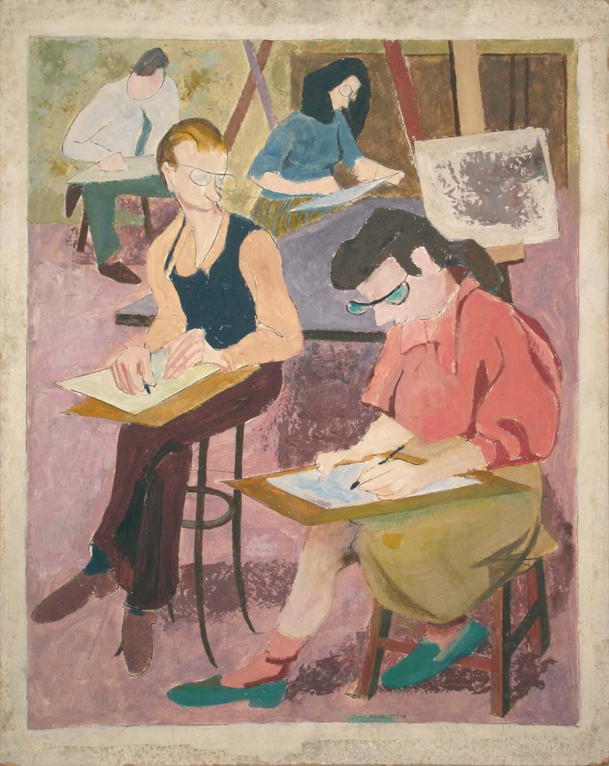 1948 Art Class Oil on board 20 x 16