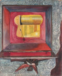 1948 Music Box Casein on Board 24 x 20