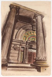 1948 St. Nicholas Greek Orthodox Church Conte Crayon and Chalk on Paper 17.625 x 11.75