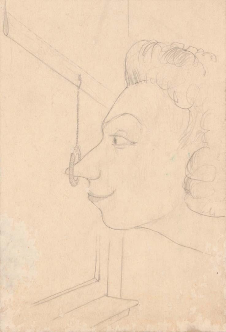 "1948 The Artist's Aunt Graphite on Board 12"" x 9.25"""