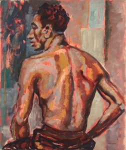 1947 Back Study Casein on Board 24 x 20