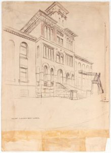 1949 Holme Elementary School Graphite on Paper 13.625 x 9.875