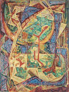 1949 Ode to Joy Casein on Masonite 40 x 30