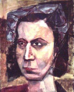1948 Portrait of Model Casein on board Dimensions Unknown