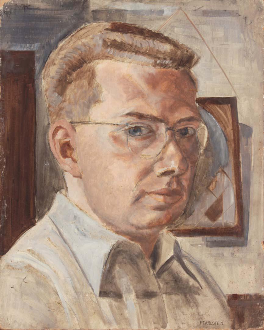 """1948 Self Portrait Casein on Board 20"""" x 16"""""""