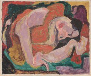 1948 Sleeping Woman Oil on Board 20 x 24