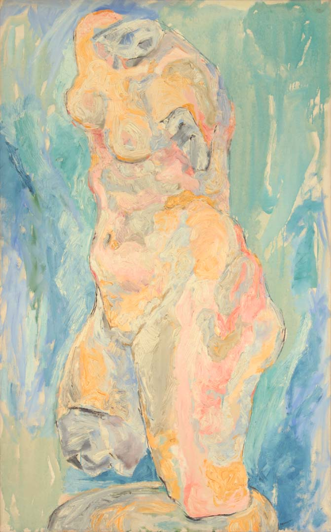 "1951 Piece of Venus Oil on Canvas 40"" x 25"""