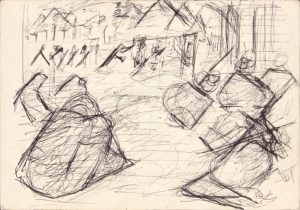 1949 NT Pen and Ink on Paper 4.75 x 6.75