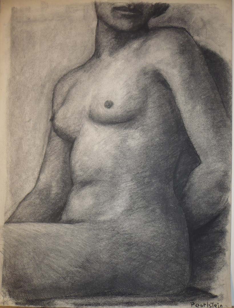 1943 Seated Female Charcoal on Paper 25 x 19.125