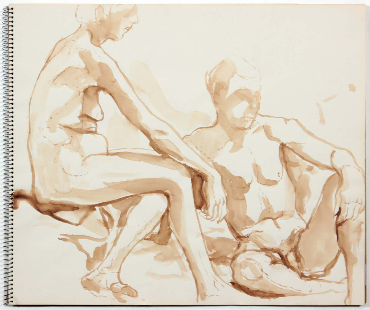 """1960 Untitled Wash on Paper 14"""" x 17"""""""