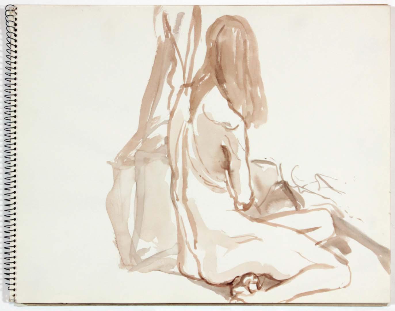 1961 NT (SB #6) Wash on Paper 11 x 14
