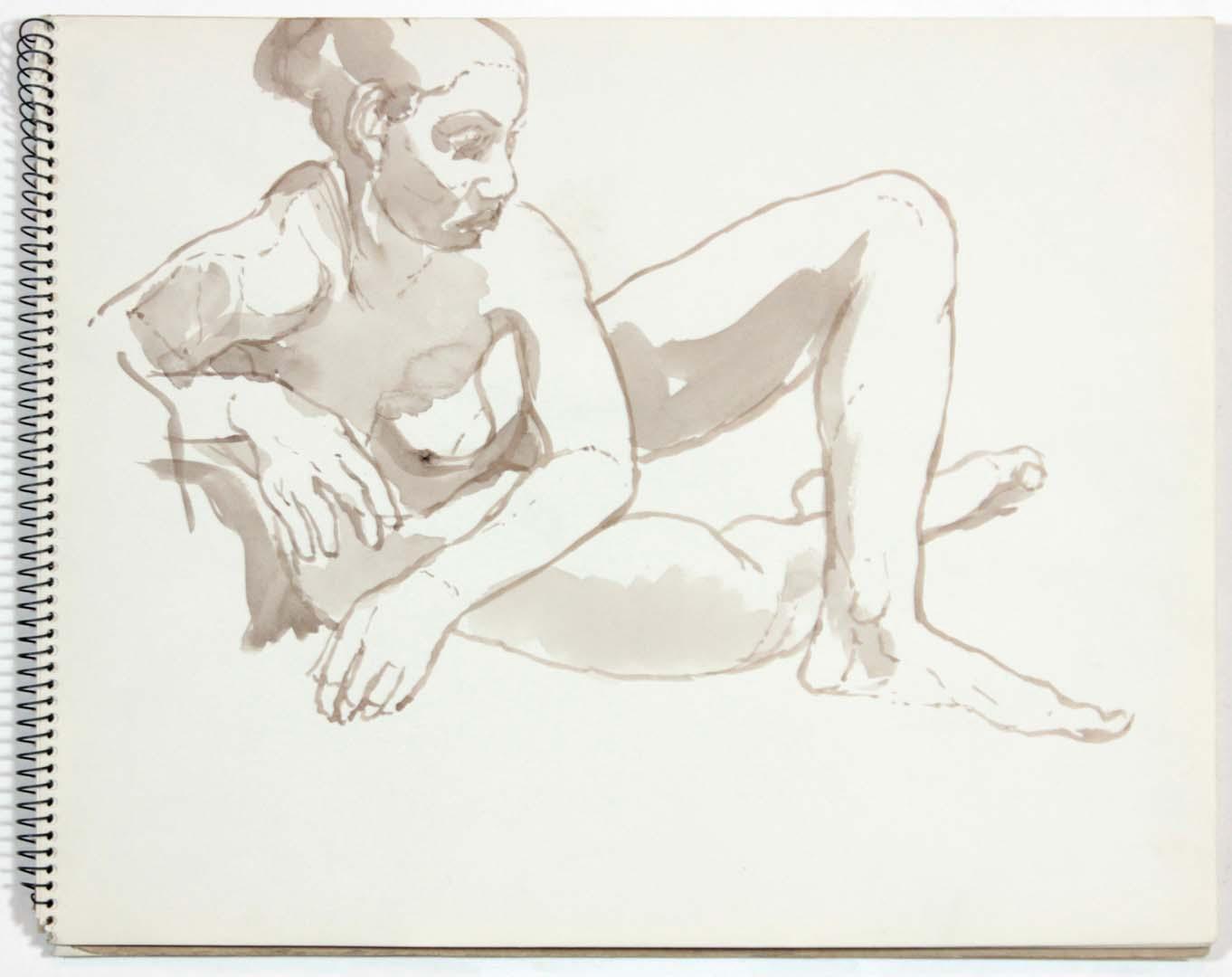 "1961 NT (SB #6) Wash on Paper 11"" x 14"""