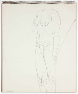 1962 Untitled Ink Wash 17 x 14