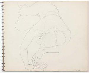 1962 Untitled Graphite 13.875 x 16.75