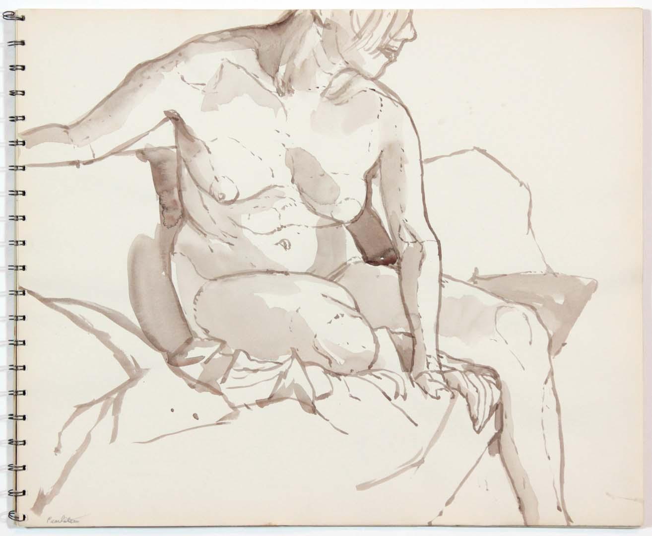 """1962 Untitled Wash 13.875"""" x 16.75"""""""