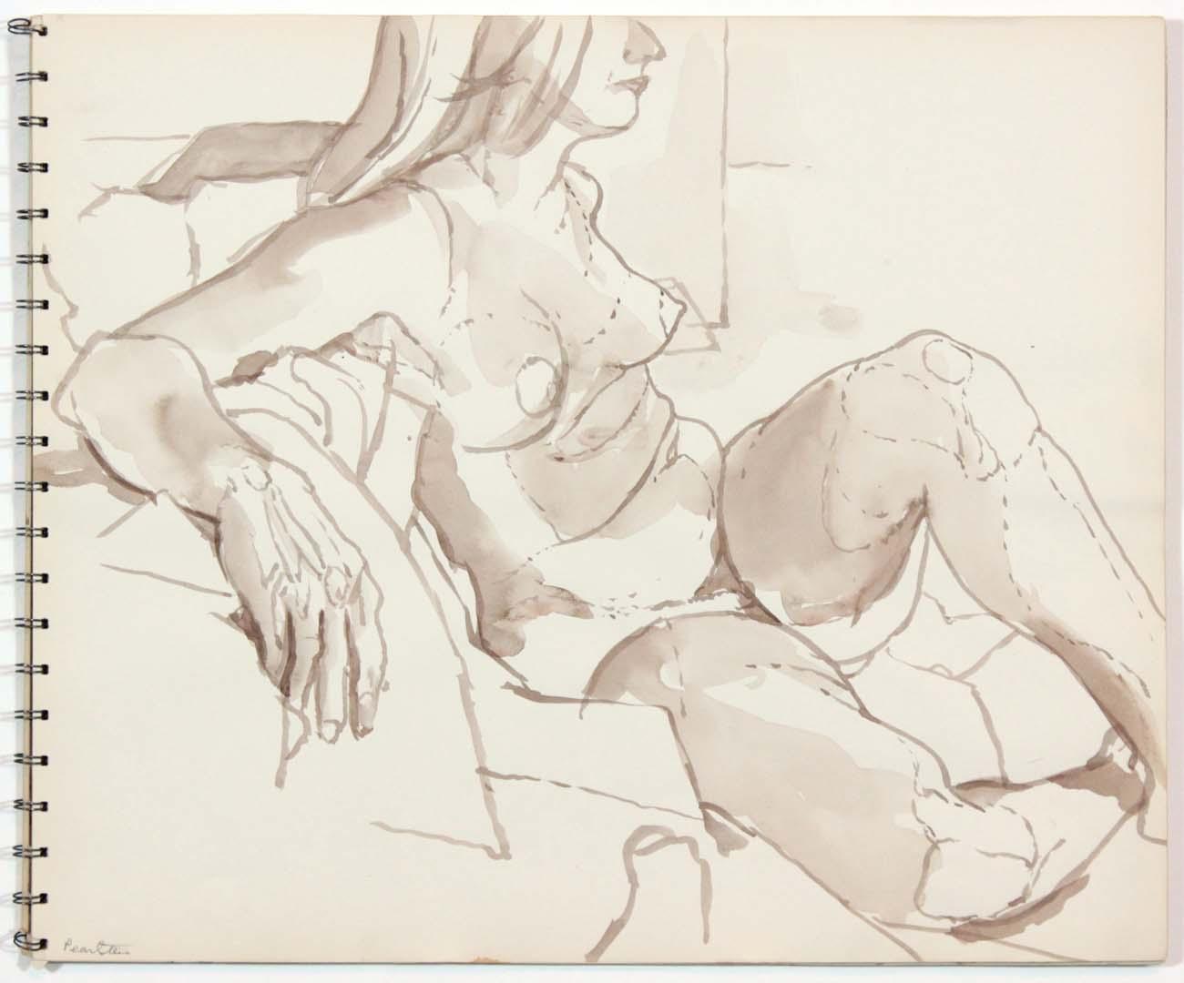 1962 Untitled Wash 13.875 x 16.75