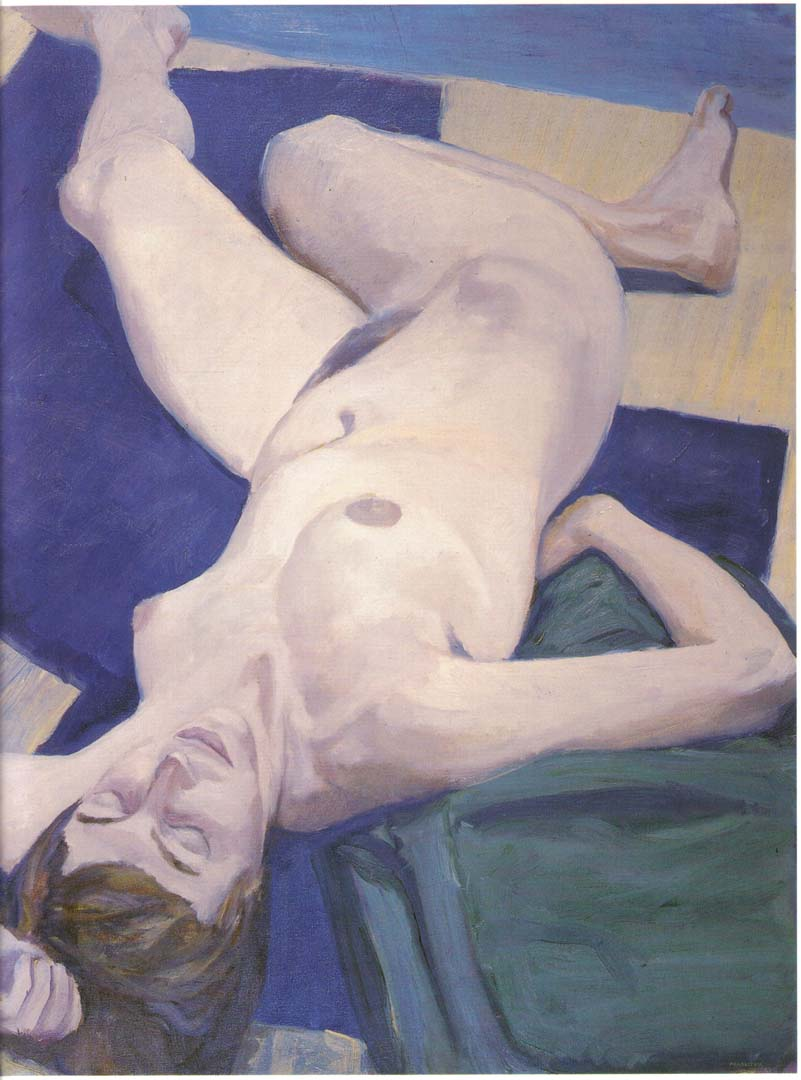 1963 Reclining Model Oil on Canvas 40.5 x 30