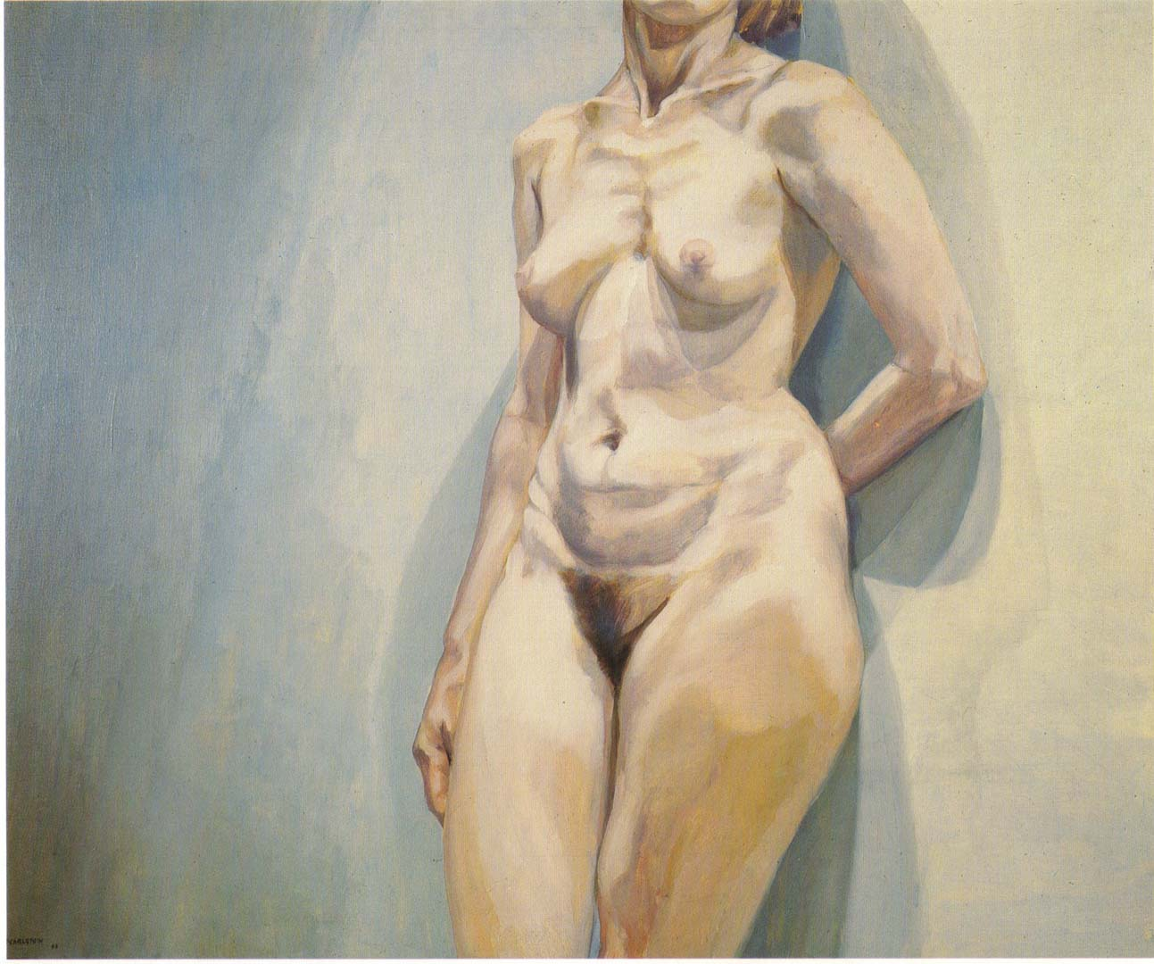"1963 Torso Oil on Canvas 36"" x 44"""
